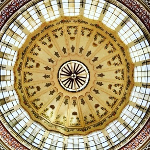 The central dome of the market.
