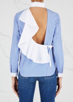 http://www.harveynichols.com/brand/sandy-liang/188014-enzo-striped-open-back-cotton-shirt/p2839110/
