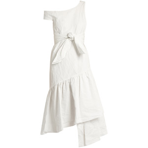 http://www.matchesfashion.com/products/Isa-Arfen-Asymmetric-ruffled-panel-cotton-blend-dress-1095242