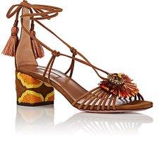 http://www.matchesfashion.com/products/Aquazzura-Samba-raffia-embellished-suede-block-heel-sandals-1087320