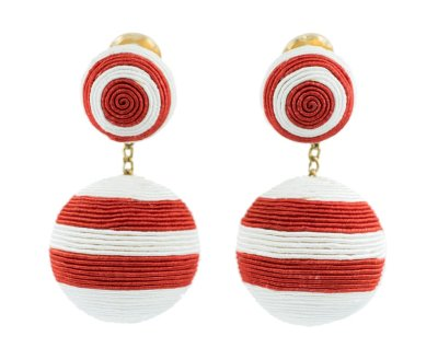 Similar here: https://www.matchesfashion.com/products/Rebecca-de-Ravenel-Paprika-beaded-cord-clip-earrings-1266148