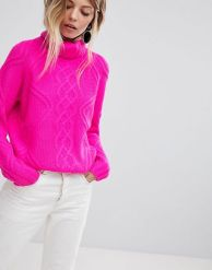 http://www.asos.com/oasis/oasis-chunky-cable-knit-roll-neck-jumper/prd/9072585?clr=brightpink&SearchQuery=&cid=2623&gridcolumn=3&gridrow=8&gridsize=3&pge=1&pgesize=72&totalstyles=64