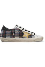 https://www.net-a-porter.com/gb/en/product/949991/golden_goose_deluxe_brand/francy-tartan-tweed-and-leather-sneakers