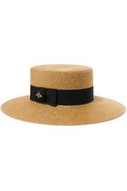 https://www.net-a-porter.com/gb/en/product/1061018/Gucci/grosgrain-trimmed-glittered-straw-hat-