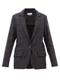 https://www.matchesfashion.com/products/Isabel-Marant-Étoile-Charly-single-breasted-checked-wool-blazer-1339781