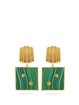 https://www.matchesfashion.com/products/Lizzie-Fortunato-Green-Wave-malachite-%26-gold-plated-earrings-1327360